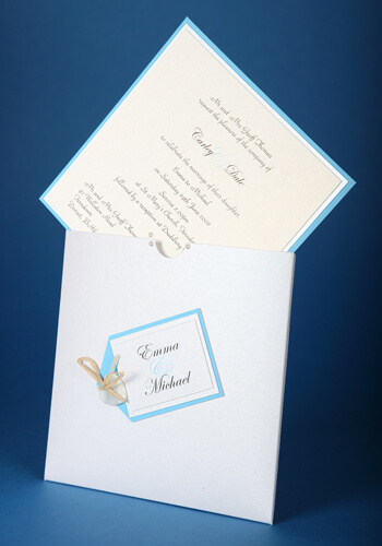 Matching wedding stationery on the day is available in this design to compliment the invitations .