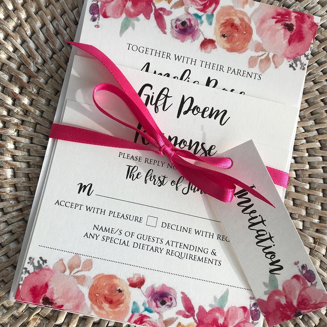 Wedding Invitations Company: Water Colour Wedding Invitations Wedding Stationery