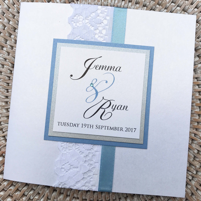 Vintage Style Pocket Fold Wedding Invitation | Emma Farwell Designs