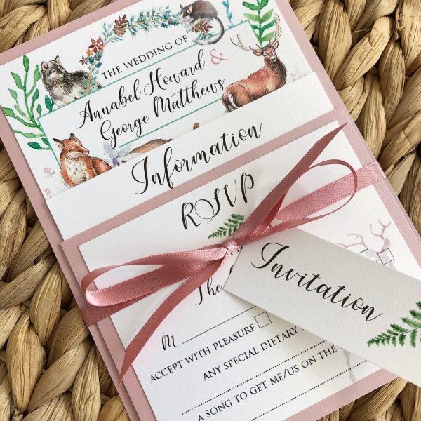 Woodland Wedding Stationery, Woodland Wedding Invitations, Forest Wedding Invitations, Woodland Save the date cards, Forest Save the date cards, Rustic Wedding Invitations, Woodland Rustic Invitations, Wedding Stationery Bournemout
