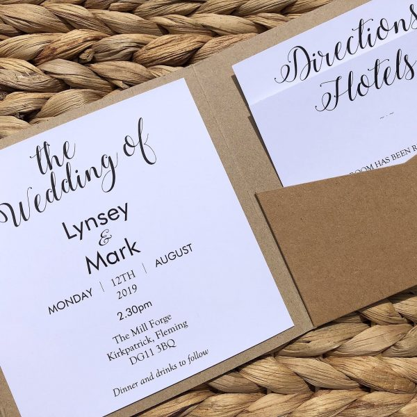 Rustic Wedding Invitations Bournemouth