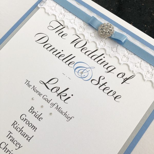 Elegance Lace Table Plan
