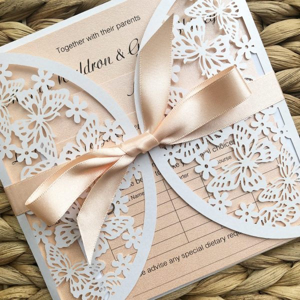 Butterfly Laser Cut Wedding Invitations, Butterfly Wedding Invitations, Butterfly Laser Cut Invitations, Butterfly Laser Cut, Laser Cut Wedding Invitations, Wedding Stationery Bournemouth