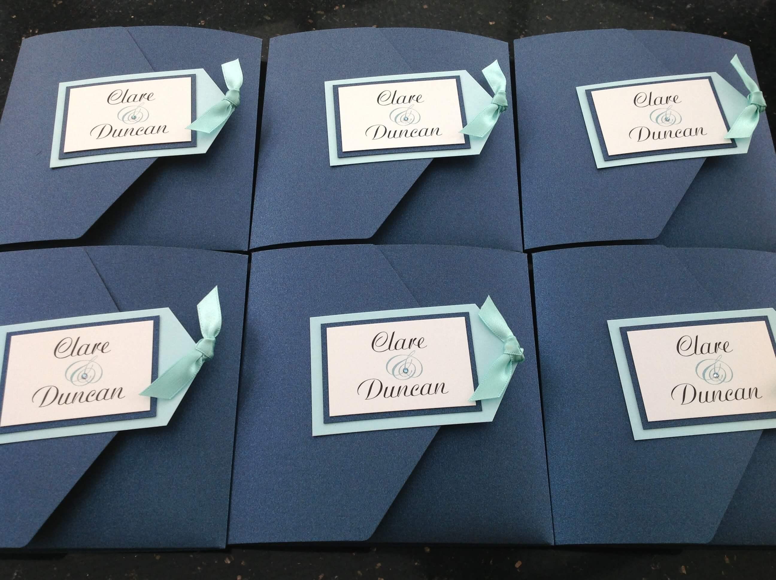 PocketFold Wedding Invitations Wedding Stationery by Emma Farwell