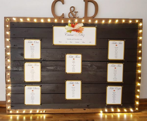 Wedding Table Plan, Autumn Wedding Invitations, Autumn Wedding Stationery, Autumn Wedding Table Plan, Wedding Stationery Bournemouth